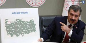 Türkiye'de il il koronavirüse yakalanan kişi sayısı...