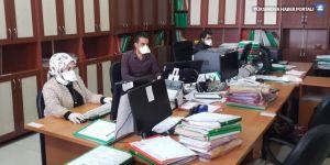 Yüksekova Adalet Sarayı'nda koronavirüs önlemleri