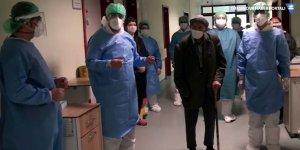 101 yaşındaki hasta, korona virüsünü yendi