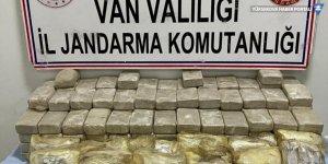 Başkale'de araziye gömülü 113 kilogram eroin bulundu