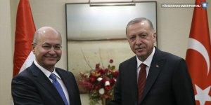Cumhurbaşkanı Erdoğan, Irak Cumhurbaşkanı Berham Salih ile görüştü