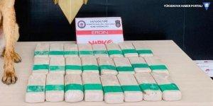 Yüksekova'da 12 kilo 300 gram eroin ele geçirildi