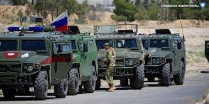 Kobani'de Rus askeri aracının geçişi sırasında patlama