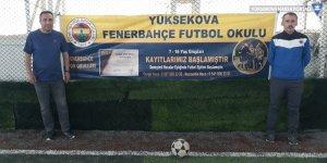 Yüksekova'da Fenerbahçe Spor Okulu açıldı!