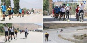 Yüksekovalı kayakçılar Türkiye Şampiyonası'na karayolunda hazırlanıyor