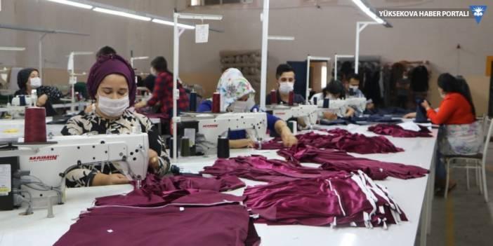 Yüksekova'da kurulan tekstil atölyesi üretime başladı