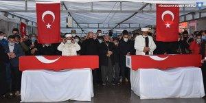 Derecik'teki saldırıda hayatını kaybeden Yüksekovalı işçiler toprağa verildi
