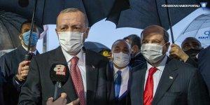 Erdoğan ve Kuzey Kıbrıs lideri Tatar, Maraş'ta ortak açıklama yaptı