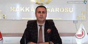 Hakkari Baro Başkanı Canan'dan Yeni yıl mesajı