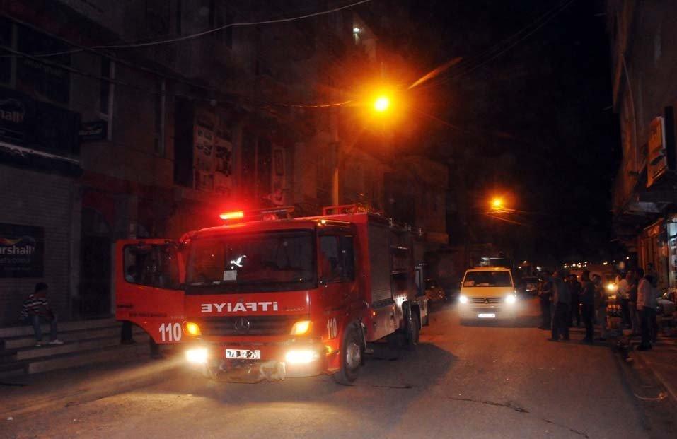 Cizre'de iş yerinde korkutan yangın