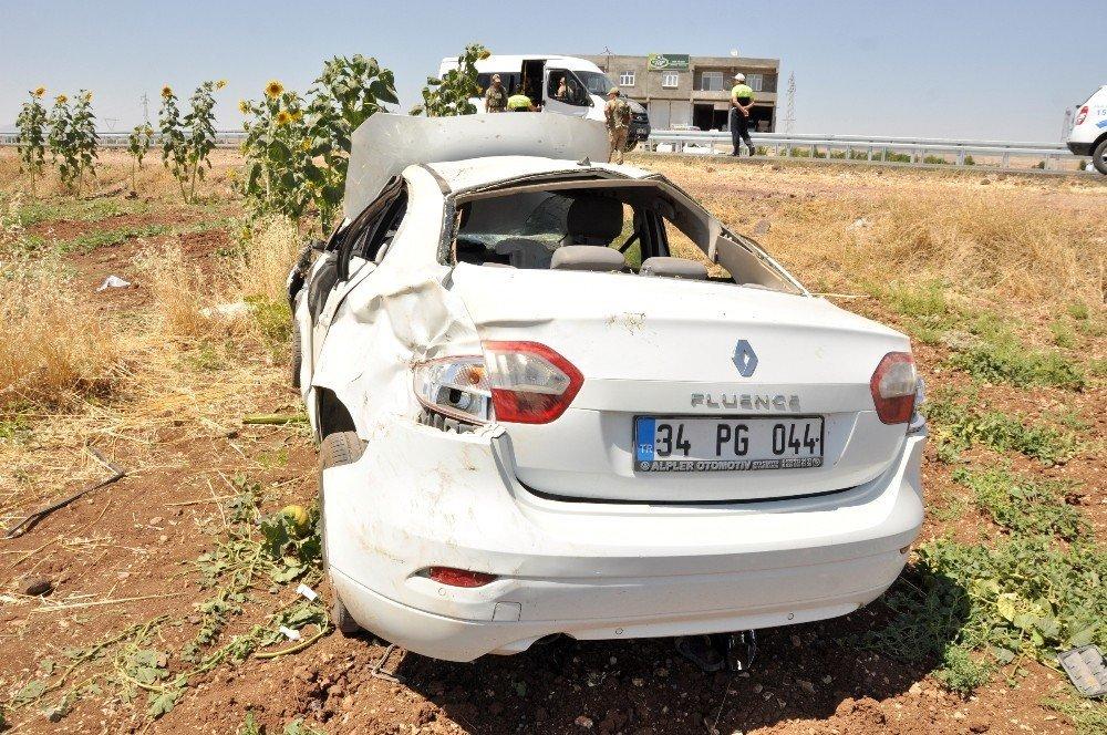 Diyarbakır'da otomobil takla attı: 5 yaralı