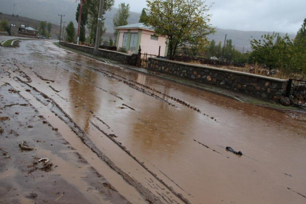 Güroymak'ta aşırı yağışlar sele neden oldu