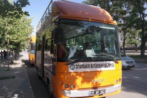Diyarbakır'da Gezi Otobüsleri Hizmete Girdi