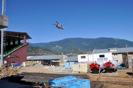 Erdoğan'ın helikopteri 3 kişiyi yaraladı