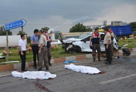 Feci kaza: 4 ölü, 2 yaralı