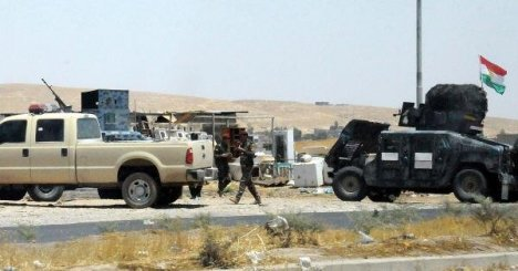 Irak Ordusunun terk ettiği Zırhlı Araçlar Erbil'e Getiriliyor