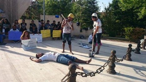Isparta'da Soma Protestosu