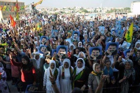 Nusaybin'de 'Öcalan'a Özgürlük Mitingi