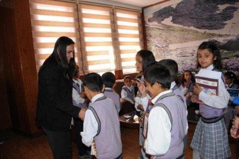 Öğrencilerden Hatipoğlu'na ziyaret