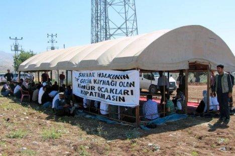 Şırnak'ta Kömür Ocağı İşçileri Oturma Eylemi Başlattı