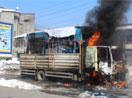 Yüksekova'da 1 araç ateşe verildi