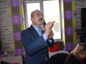İçişleri Bakanı Soylu Yüksekova'da açıklamalarda bulundu