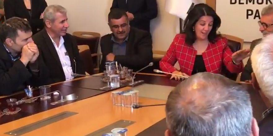 Pervin Buldan'dan misafire: Hemen bırakıyorsun başkanlığı...
