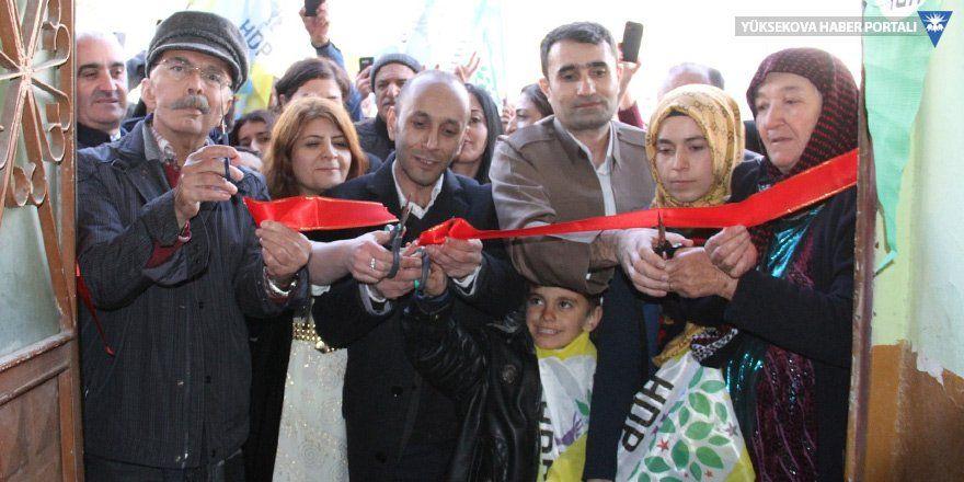 HDP'nin Şemdinli seçim bürosu açıldı