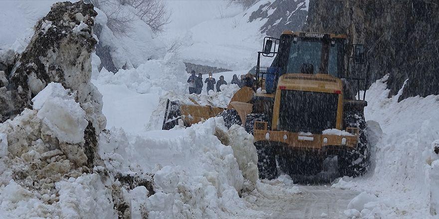Yüksekova'da kapanan köy yolları açılıyor