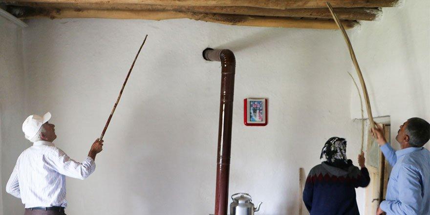 Ataş ailesinin evinden şimdiye kadar 60 yılan çıktı