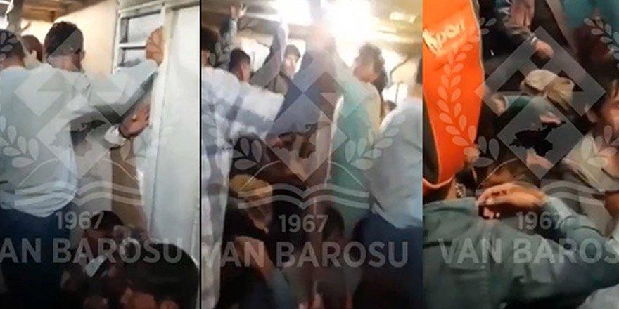 Van'da batan mülteci teknesinden son görüntüler
