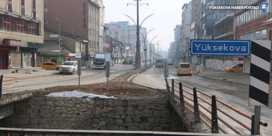 Yüksekova sokaklarında kısıtlama sessizliği