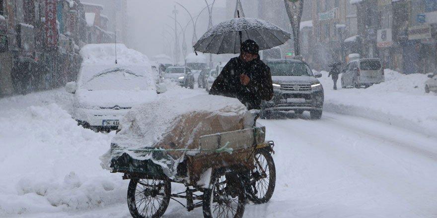 Yüksekova'da kar yağışı etkili oldu