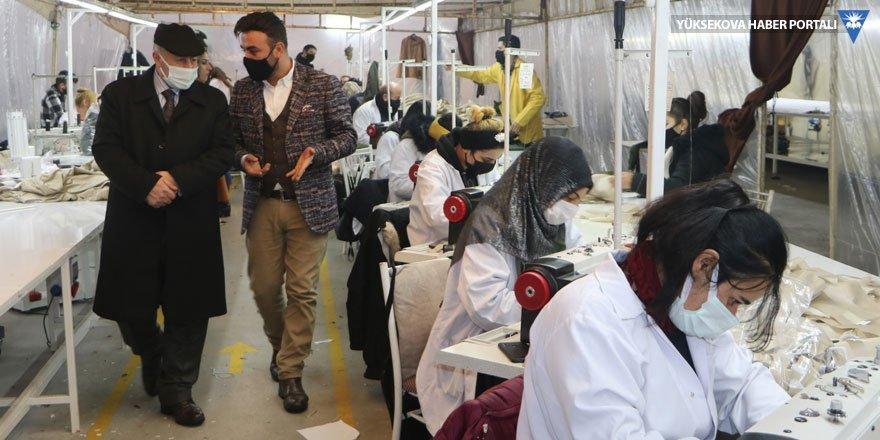STK'lardan Yüksekova'daki tekstil fabrikasına ziyaret